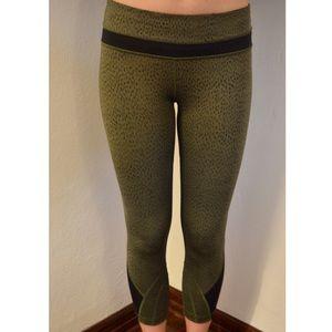 LULULEMON ARMY GREEN RUN INSPIRE PANTS